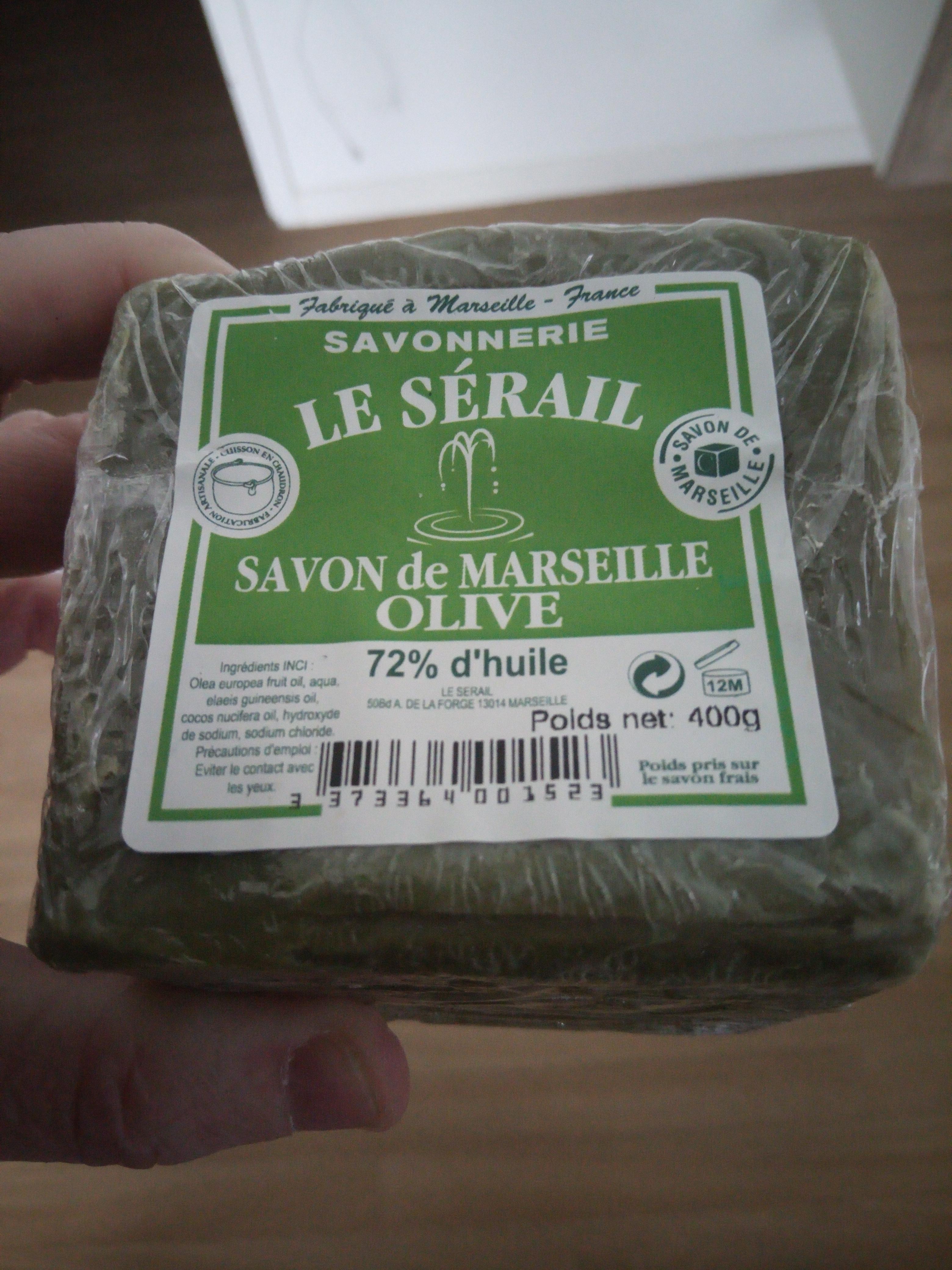 Savon Marseille Serail olive - 72% d'huile (400gr) - Roncq (59)