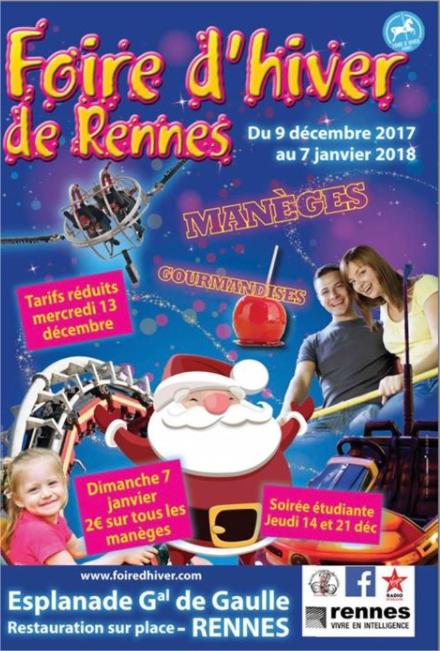 Tous les manèges à 2€ - Fête foraine à Rennes (35)