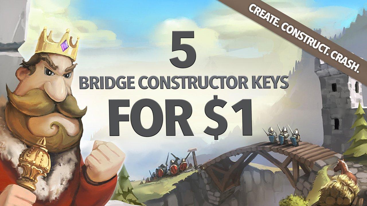 Pack de 4 jeux Bridge Constructor + 1 DLC sur PC (Dématérialisé - Steam)