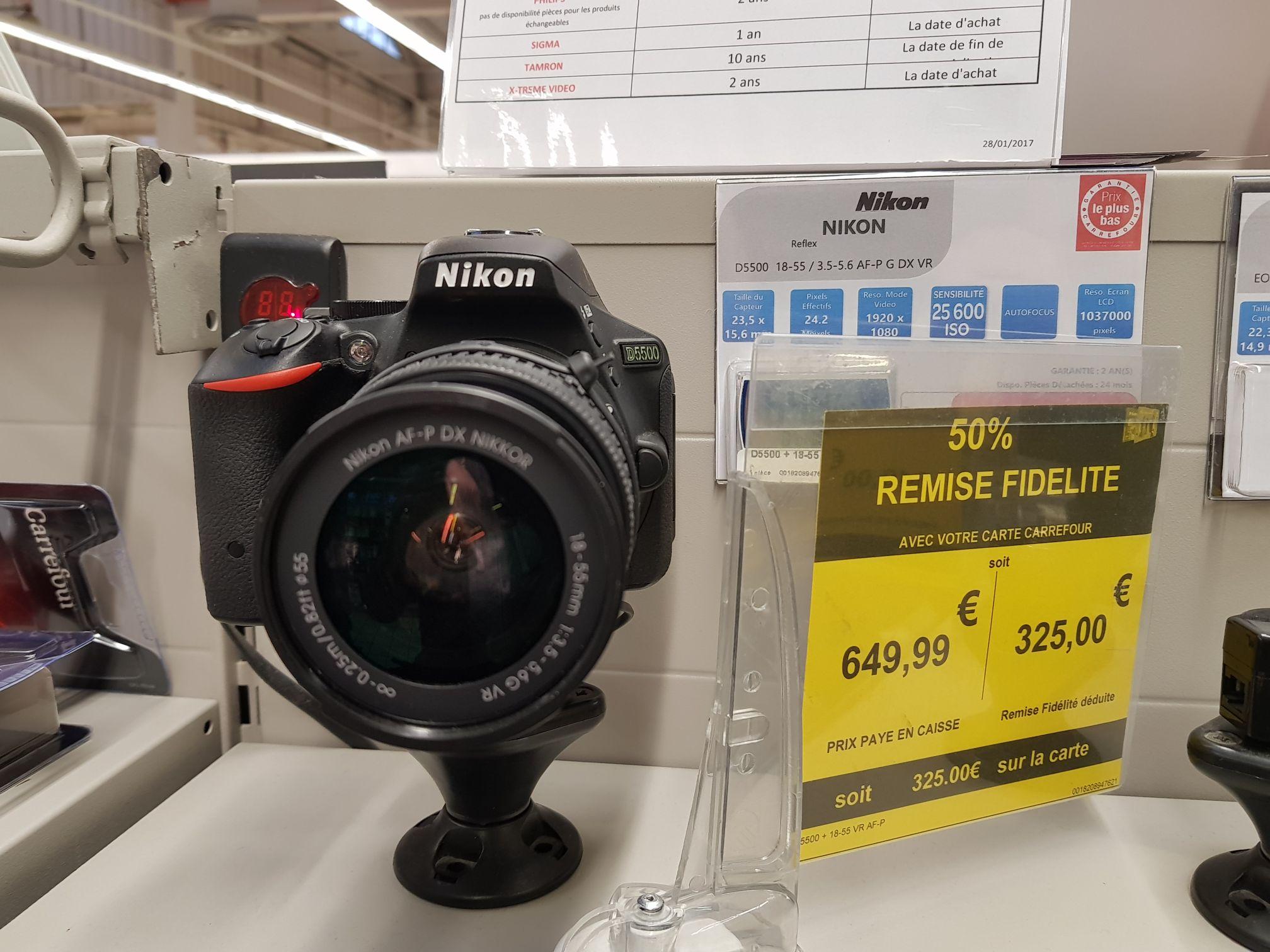 Appareil photo Nikon D5500 + Objectif 18-55 VR (avec 325€ sur la carte) - Chambéry (73)