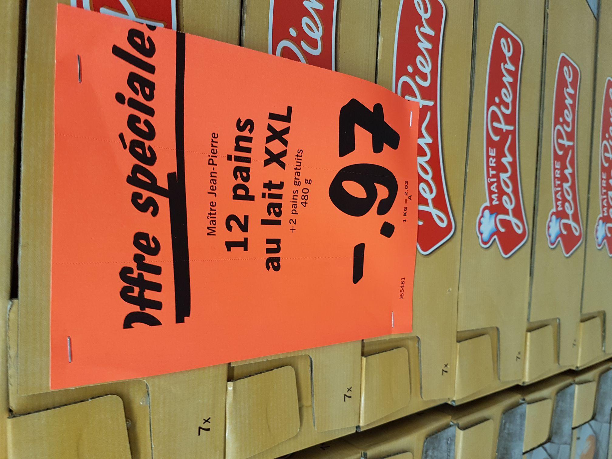 Pack 12 + 2 pains au lait XXL Maitre Jean Pierre - LIDL