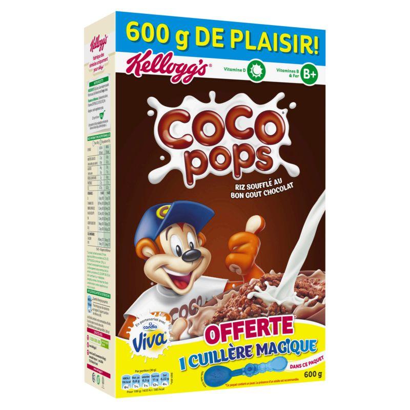 2 paquets de céréales Kellogg's Coco Pops 600g - Noidans (70)
