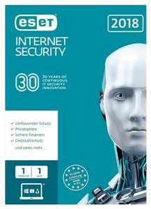 Licence 1an ESET Internet Security 2018