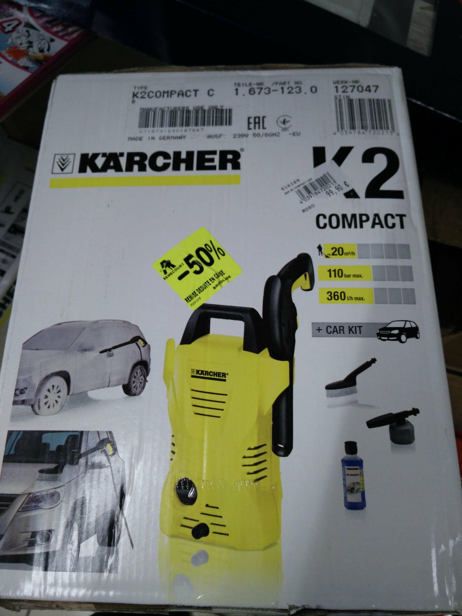 Nettoyeur haute pression Karcher K2 Compact + kit voiture 1400W - Auchan Semecourt (57)