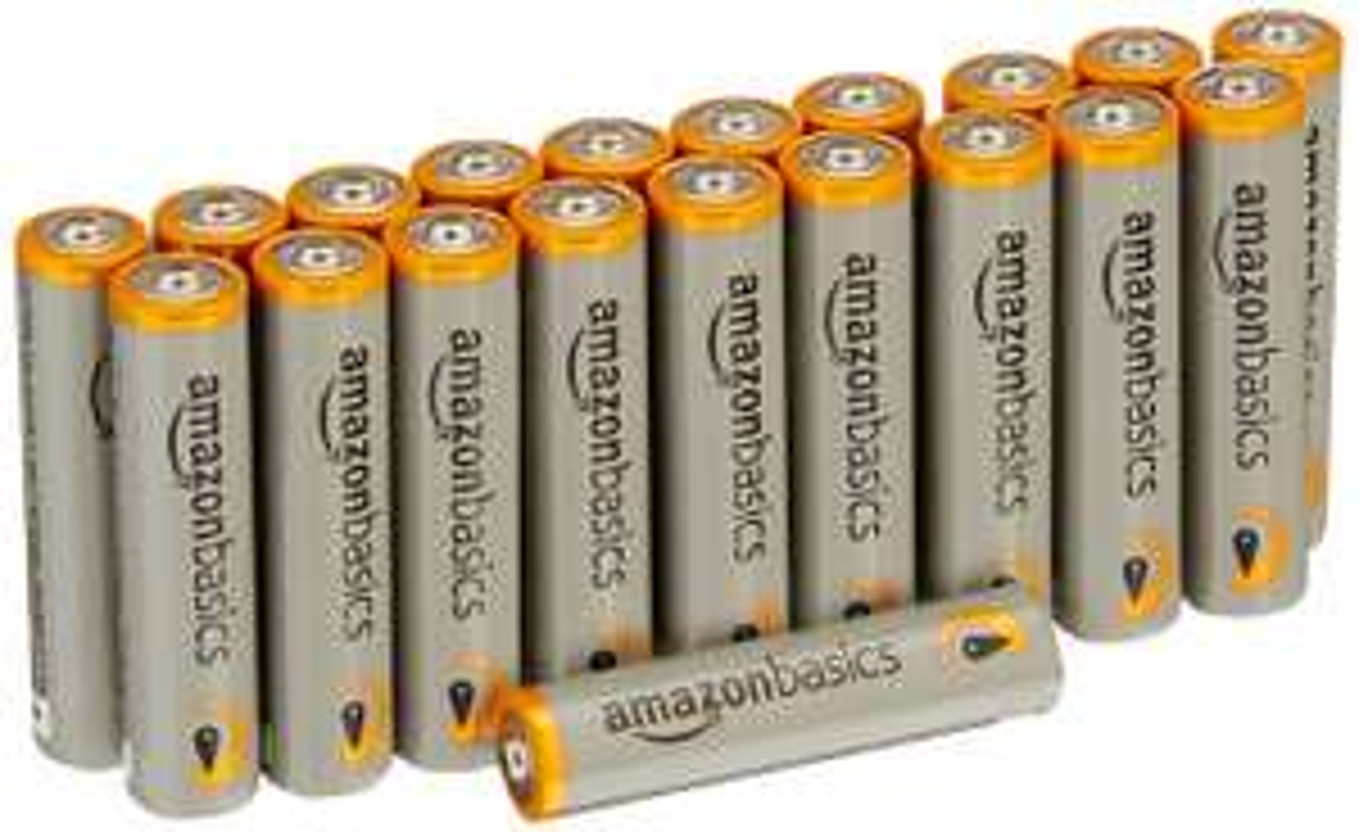 Lot de 20 piles alcalines AmazonBasics - Type AA, 2875mah