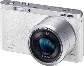 """Appareil photo hybride Samsung NX Mini blanc + Objectif 9-27mm + tablette 7"""" Galaxy Tab 3 offerte"""