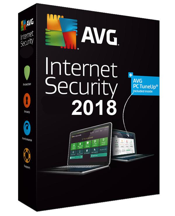 Antivirus AVG Internet Security 2018 Gratuit sur PC - Licence 1 An (Dématérialisé)