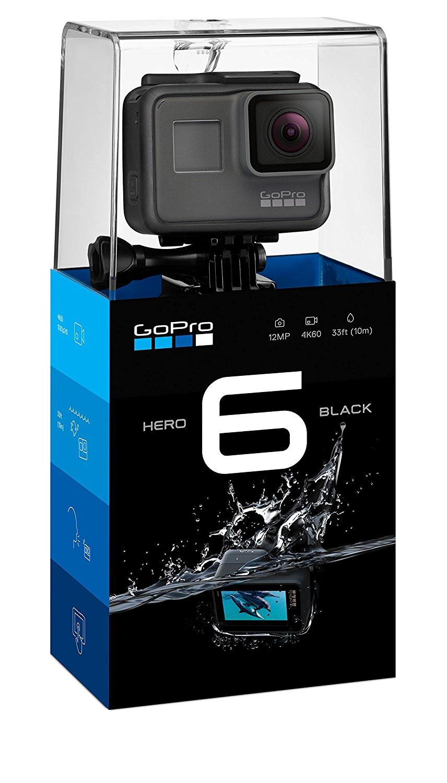 Caméra Sportive GoPro Hero 6 Black + Carte microSD de 32Go