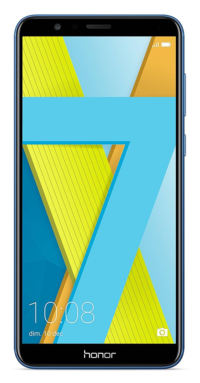 "Smartphone 5.93"" Honor 7X Dual Nano SIM (Bleu) - Full HD, Octo-Core HiSilicon Kiri 659, RAM 4Go, 64Go, Android 7.0 + Emui 5.1 (Via ODR 50€)"