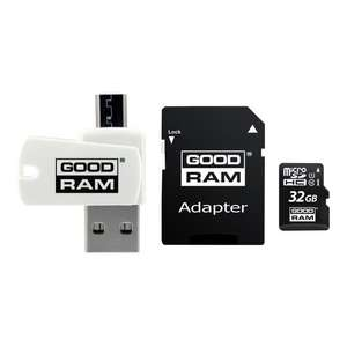 Carte microSD GoodRAM M1A4 32Go Classe 10 + Adaptateur SD + Adaptateur USB