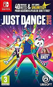 Jeu Just Dance 2018 sur Nintendo Switch