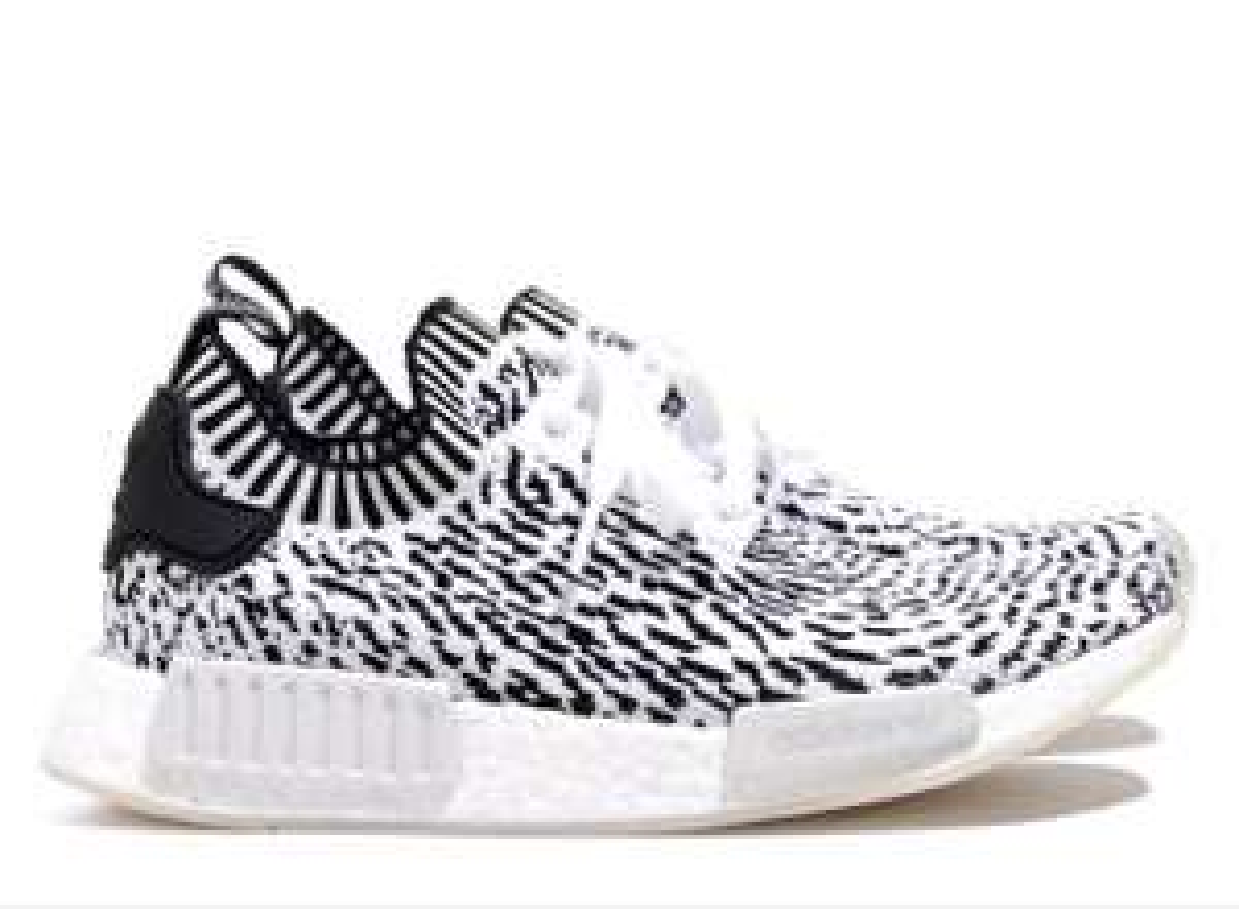 Baskets Adidas NMD R1 Primeknit Zebra - Blanches