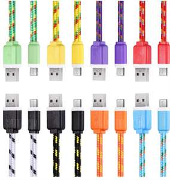 Câble tressé USB Type C - 2m, Plusieurs coloris