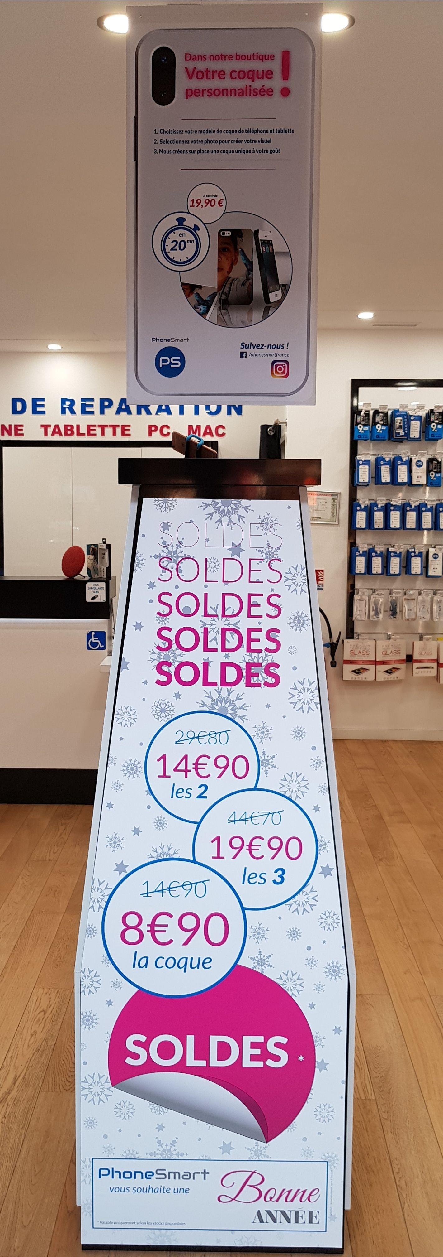 Sélection de Coques et Pochettes en Soldes pour Smartphones et Tablettes - Ex: 1 Coque  -  PhoneSmart Auchan Semecourt  (57)  Mont-Saint-Martin (54)
