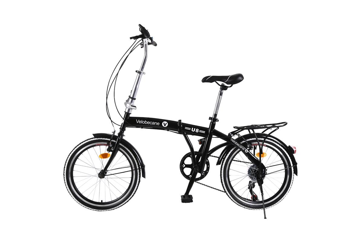 Vélo pliable classique Coloris noir ou blanc