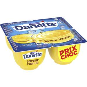 3 paquets de 4 Danette Danone au choix (via application Danone)