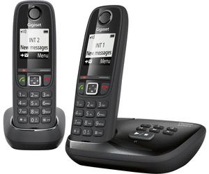 Lot de 2 téléphones fixes sans-fil Gigaset AS405A Duo - blanc ou noir (via ODR de 12€) au Auchan Sain-Loup Marseille (13)