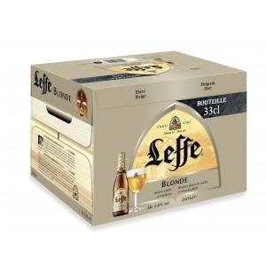 Pack de 20 bières blondes Leffe - 33 cl (via 8.1€ sur la carte de fidélité)