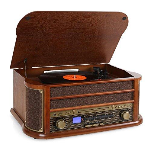 Chaîne Auna Belle époque 1908 - Vinyle, Radio, K7, CD, USB (vendeur tiers)