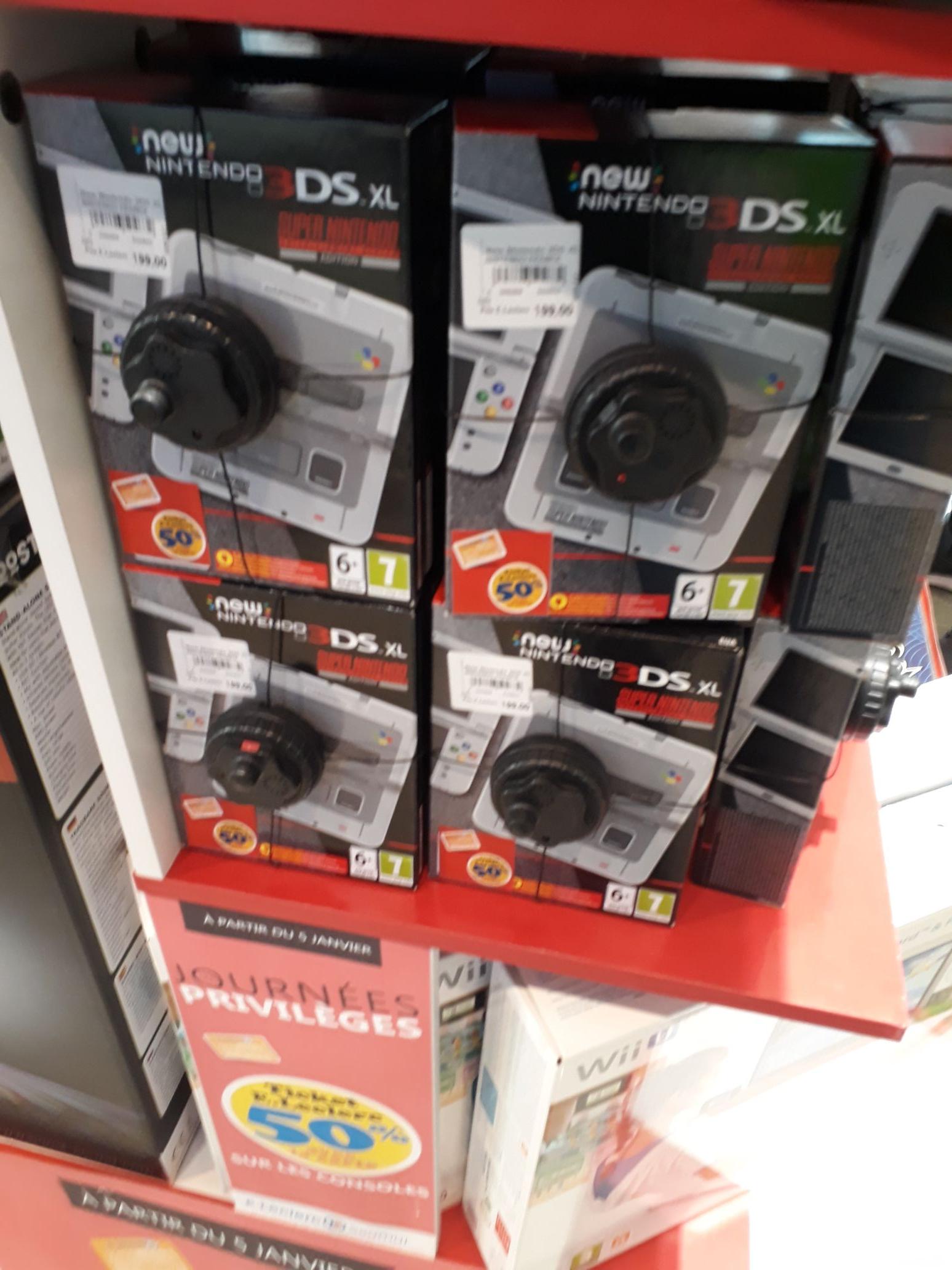 Sélection de consoles en promotion - Ex : Nintendo 3DS XL Super Nintendo (via 99.50€ sur la carte) - Leclerc Saumur (49)