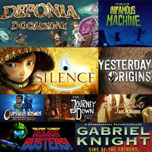 Point & Click Definitive Bundle: 9 jeux sur PC dont Silence, Deponia Doomsday, Kelvin and the Infamous Machine, Yesterday Origins ... (Dématérialisés - Steam)