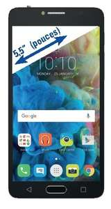 "Smartphone 5,5"" Alcatel POP 4S Noir / Gris - Full HD, Helio P10, RAM 2 Go, ROM 16 Go, Android 6.0 (B20 et B28)"