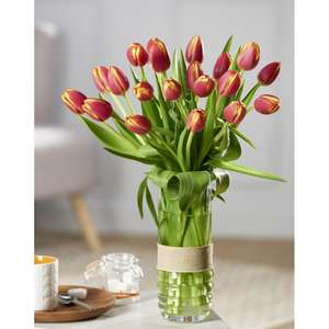 Bouquet de 20 tulipes (via 4€ sur la carte)