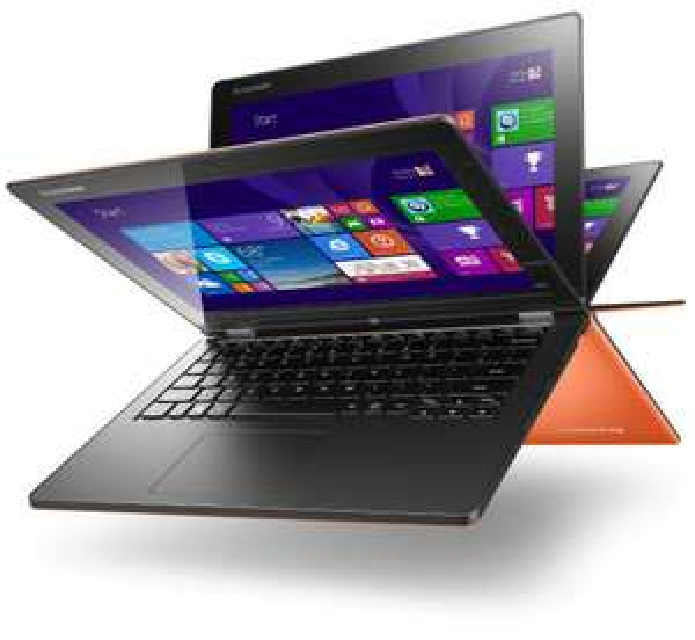 "PC Portable 13"" Lenovo Yoga 2 13  Hybride Tactile Orange (i3, 4 Go de RAM, HDD 500 Go + 8 Go de SSD, Windows 8.1) (ODR 100€)"