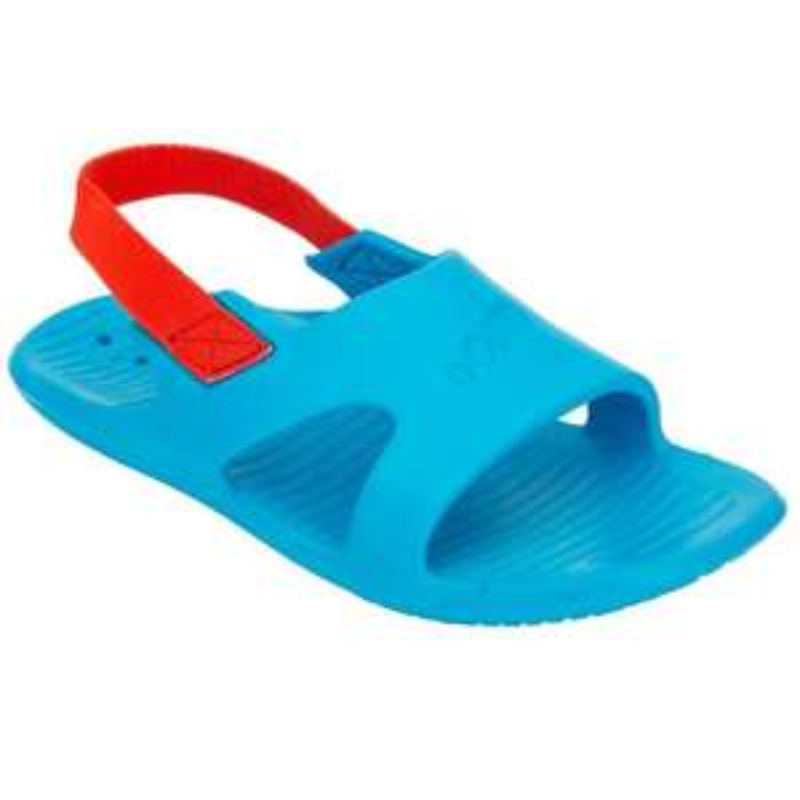 Sandales de natation enfant Nataslap Nabaiji - Bleu/Rouge