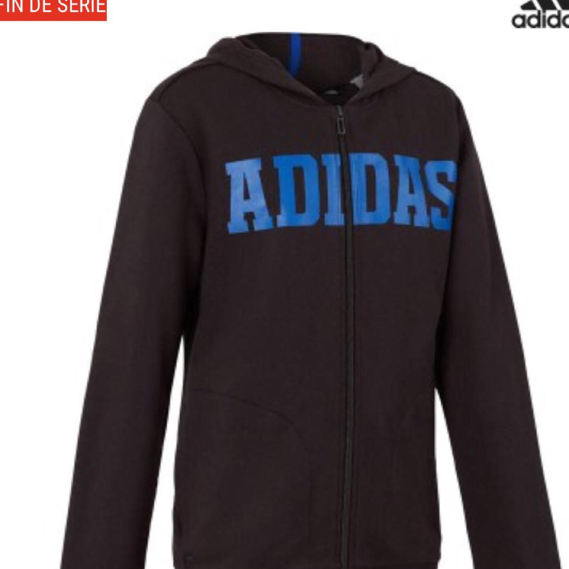 Veste à capuche enfant Adidas - Noir/Bleu