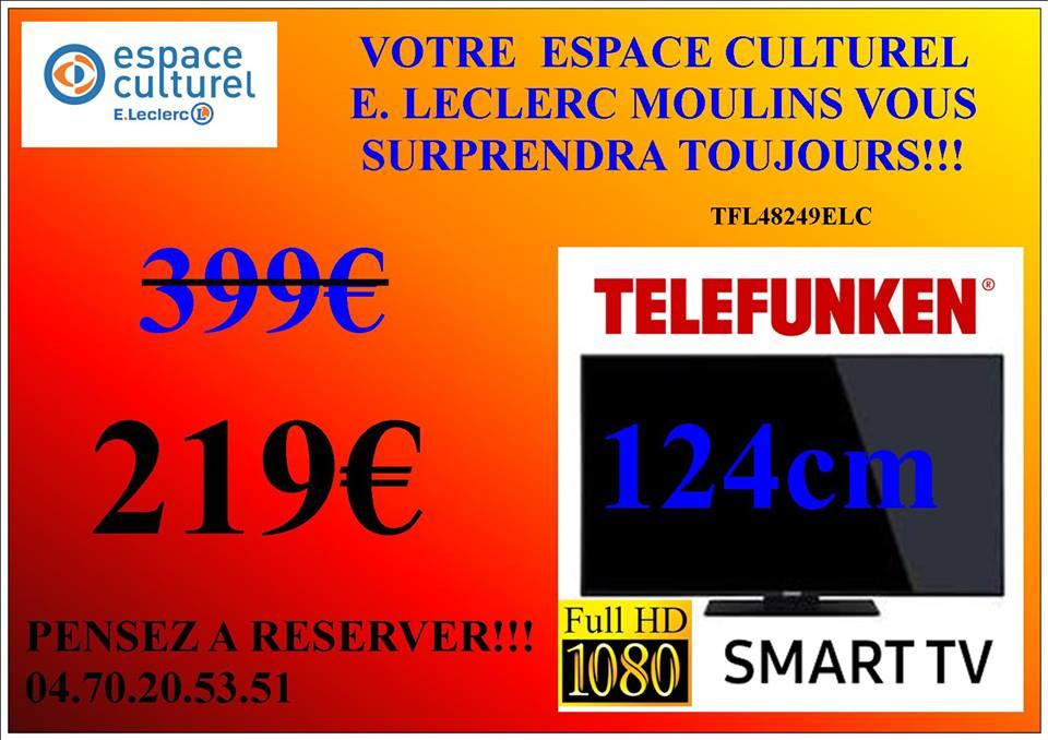 """TV 48"""" Telefunken TFL48249ELC 124CM - Moulins (03)"""