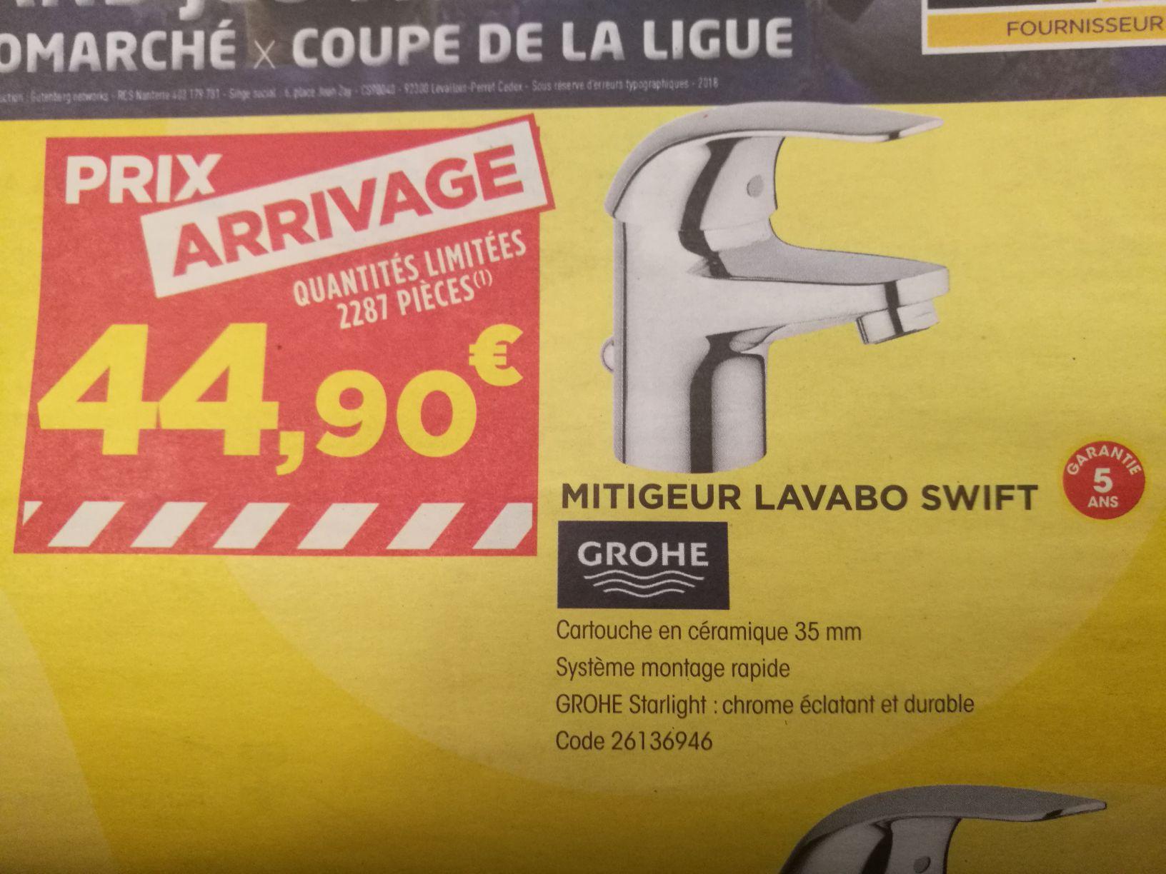 Sélection de produits en promotion - Ex: Mitigeur lavabo Grohe Swift