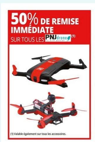 50% de réduction sur tous les drones PNJ