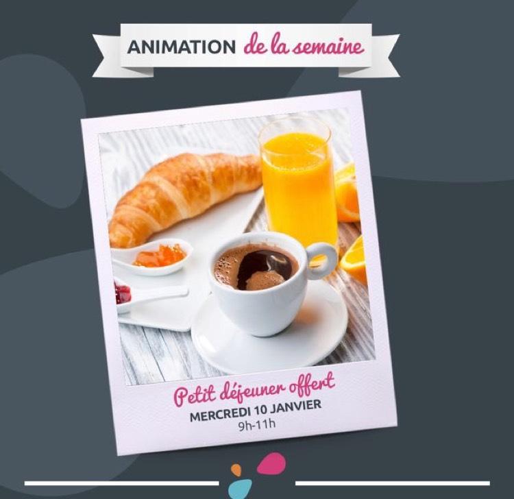 Petit déjeuner offert le 10 janvier 2018 de 9h à 11h - Poitiers Sud (86)