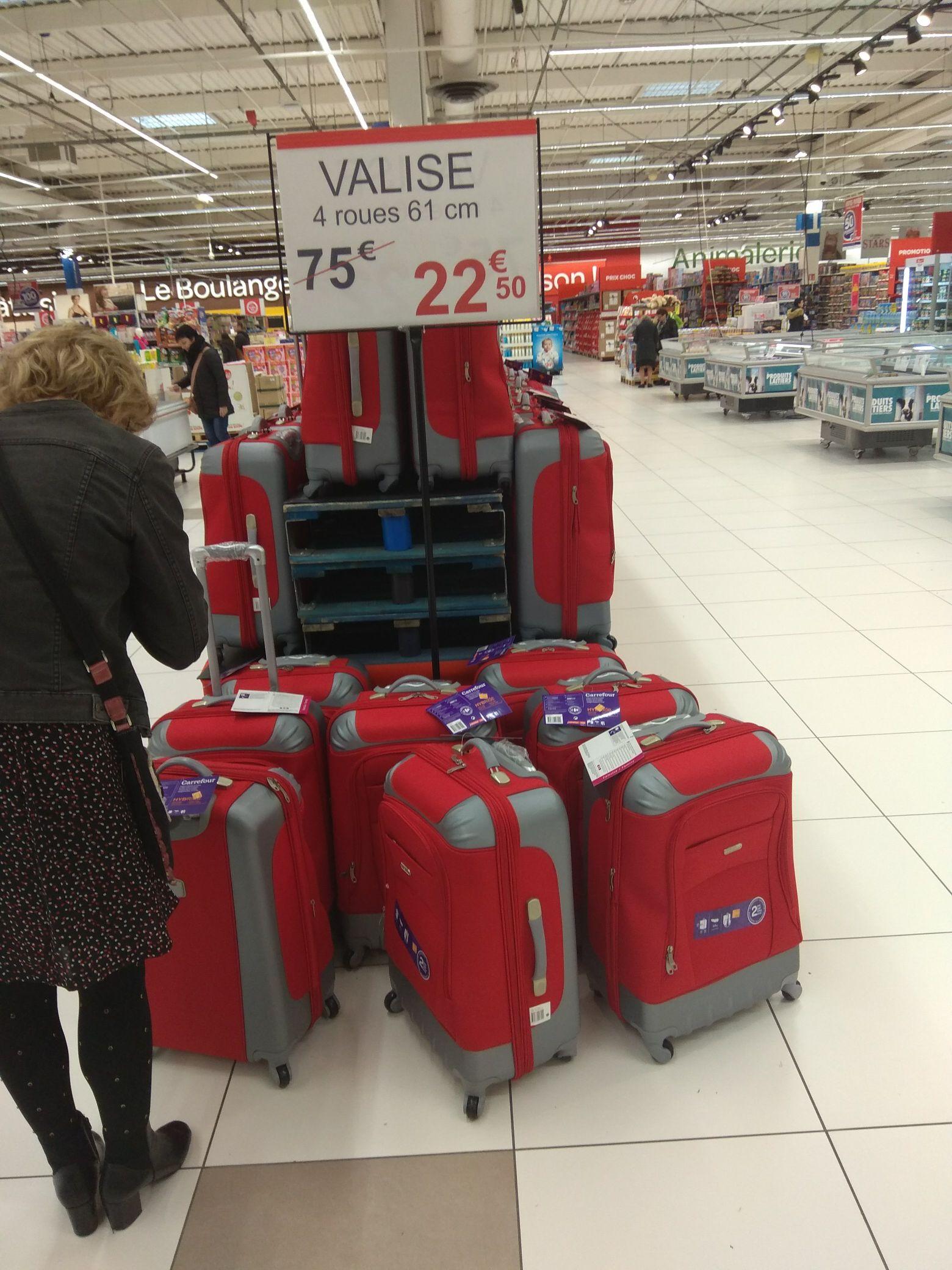Valise de voyage 61 cm rouge - Carrefour cernay (51)