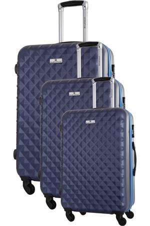Ensemble de 3 valises Platinium S/M/L - Bleu Marine