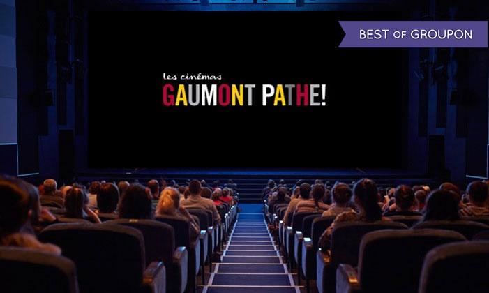 1 ou 2 places pour les cinémas Gaumont et Pathé à 6,96€ ou 13,52€