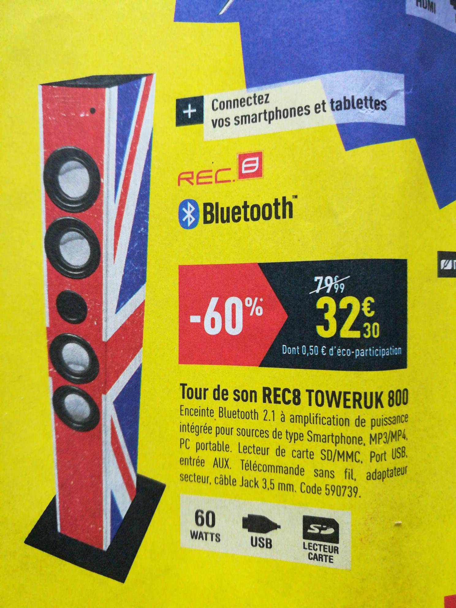 Tour de son REC8 Toweruk 800 - Bluetooth