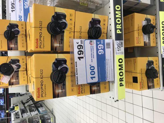 Appareil photo Kodak AZ422 (via 100€ sur la carte fidélité) - Villeneuve-d'Ascq (59)