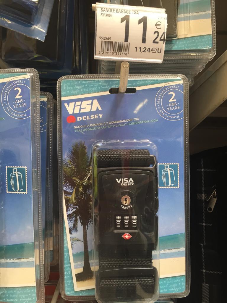 Sangle TSA visa par Delsey pour valises