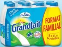 Lait UHT Candia Grandlait 8 x 1L