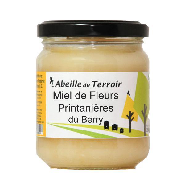 Lot de 5 pots de 1kg de Miel Fleurs Printanières Crémeux (Français) - L'abeille du Terroir