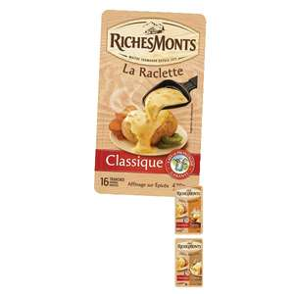 2 x 420g Fromage à raclette Richemont sans croûtes (via 2.38€ sur la carte fidélité + BDR + remboursement)