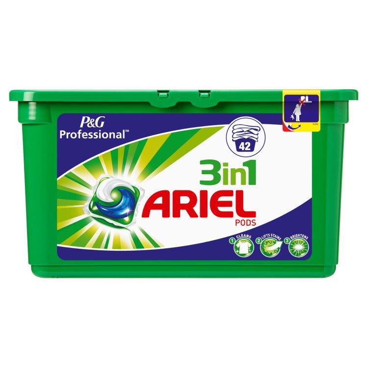 28 dosettes de lessive liquide Ariel 3-en-1 Pods - différents parfums (via BDR + 7.53€ sur la carte de fidélité) au Carrefour Market Caudéran Ferry Bordeaux (33)