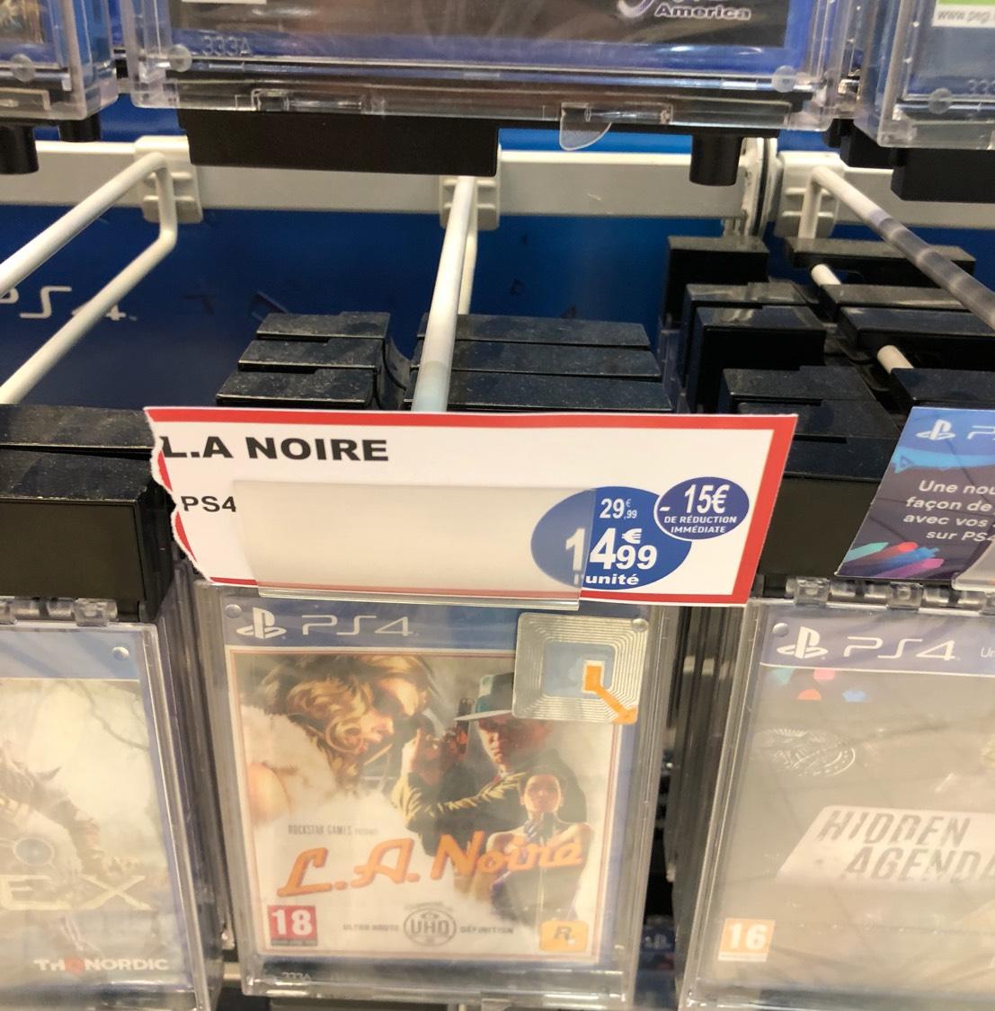 Jeu L.A. Noire sur PS4 - Leclerc Champleury (51)