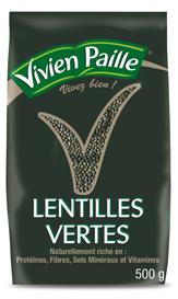 Paquet de lentilles vertes Vivien paille - 500g