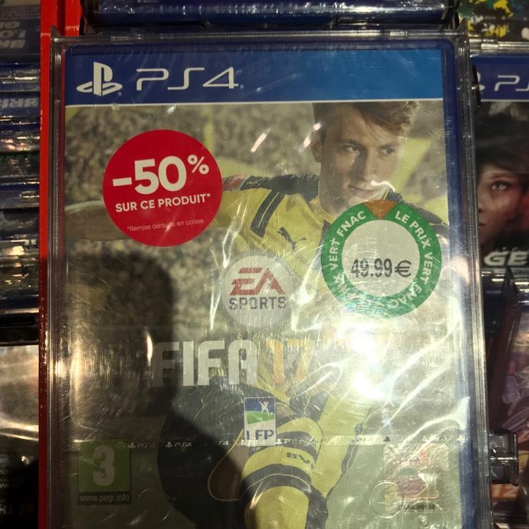 Sélection de Jeux en Promotion sur Ps4 & Xbox One - Ex: Fifa 2017 sur PS4 - Évry (91)