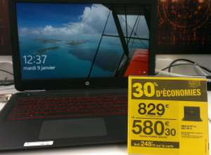"[Carte Fidélité] PC Portable 15"" FHD IPS, HP Omen 15-AX011NF - i5-6300HQ, 1 To + 128 Go SSD, GeForce GTX 950M (via 248,70€ fidélité, Carrefour Montesson - 78)"