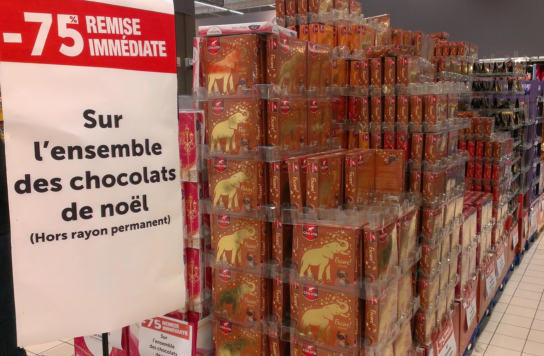 75% de réduction sur tous les chocolats de Noël - Montesson (78)