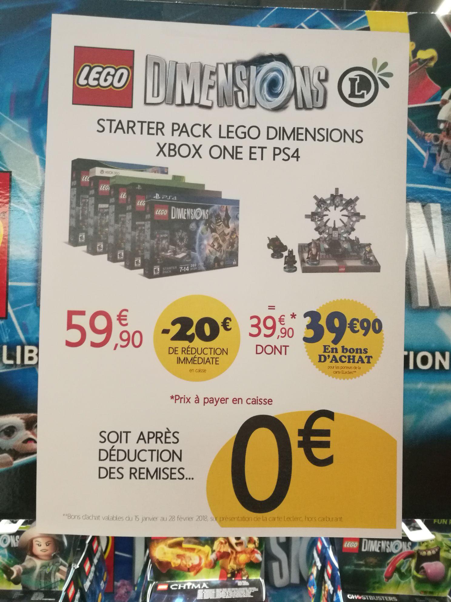 Starter pack Lego Dimensions Gratuit sur PS4, Xbox One, PS3, Xbox 360 ou Wii U (via 39.9€ sur la carte) - Mios (33)